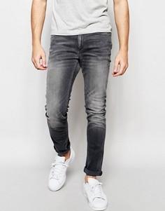 Серые эластичные джинсы скинни Jack & Jones - Серый