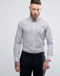 Строгая эластичная рубашка слим с принтом HUGO by Hugo Boss - Фиолетовый