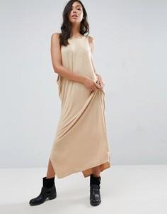 Драпированное платье макси NYTT - Розовый