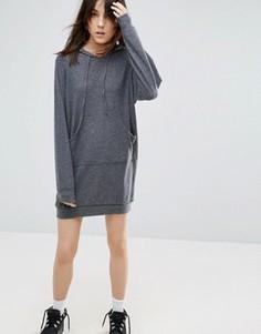 Платье-худи с длинными рукавами NYTT - Серый
