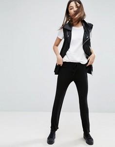 Укороченные брюки с поясом на шнурке NYTT - Черный