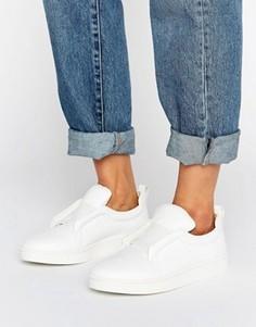 Белые кожаные кроссовки-слипоны Sol Sana Mickey - Белый
