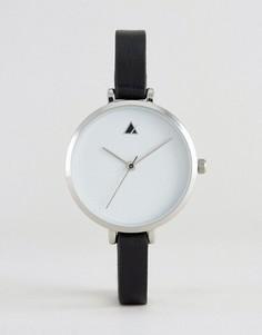 Часы с большим циферблатом и тонким ремешком ASOS - Черный