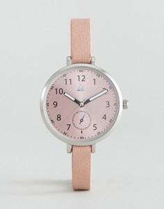 Часы с большим циферблатом и узким ремешком ASOS - Розовый