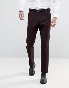 Узкие брюки из шотландского твида из 100% шерсти ASOS - Красный