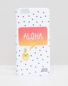 Чехол для iPhone 6 с ананасами Mr Gugu & Miss Go - Белый
