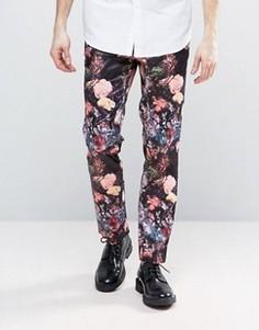 Узкие брюки с цветочным принтом ASOS - Мульти