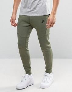 Зеленые флисовые джоггеры суженного книзу кроя Nike Tech 805162-387 - Зеленый