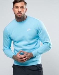 Голубой свитшот с логотипом и круглым вырезом Nike 804340-432 - Синий