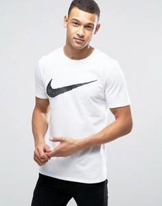 Белая футболка с принтом галочки Nike 707456-100 - Белый