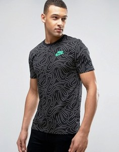 Черная футболка с принтом Nike 834699-010 - Черный