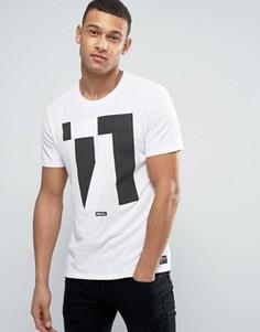 Белая футболка с принтом Nike F.C. 831699-100 - Белый