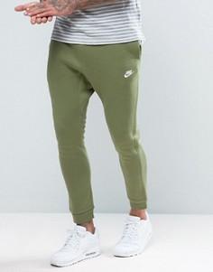 Зеленые флисовые джоггеры с логотипом Nike 804408-387 - Зеленый