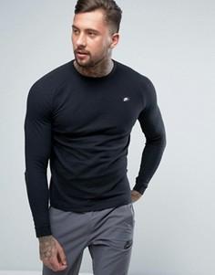 Черный свитшот с круглым вырезом Nike 846350-010 - Черный