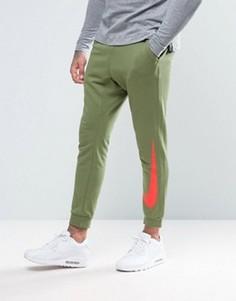 Зауженные облегающие джоггеры с манжетами зеленого цвета 831816-387 - Зеленый Nike