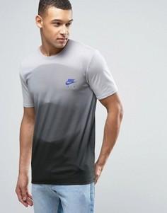 Серая футболка с градиентным принтом Nike 834737-012 - Серый