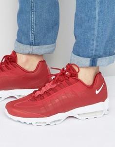 Красные кроссовки Nike Air Max 95 Ultra 857910-600 - Красный
