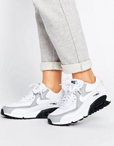 Белые кроссовки Nike Air Max 90 - Белый