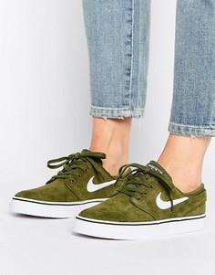 Кроссовки цвета хаки Nike SB Zoom Janoski - Зеленый