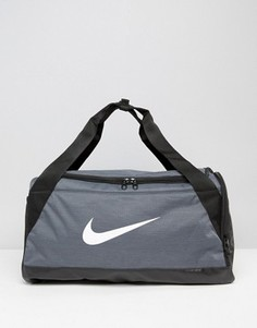 Серая маленькая сумка Nike Brasilia BA5335-064 - Серый