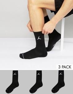 Набор из 3 пар черных носков Nike Jordan SX5545-013 - Черный