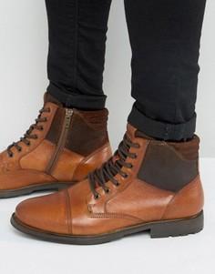 Кожаные ботинки со шнуровкой Aldo Choham - Рыжий