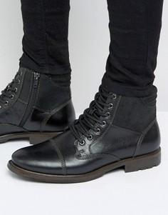 Кожаные ботинки со шнуровкой Aldo Choham - Черный