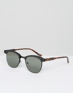 Черно-черепаховые солнцезащитные очки в стиле ретро ASOS - Черный