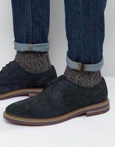 Замшевые туфли дерби Base London Blake - Темно-синий