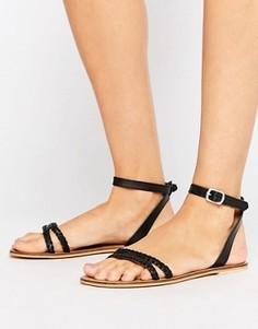 Кожаные сандалии ASOS FLERY - Черный