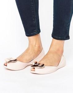 Светло-розовые туфли на плоской подошве Vivienne Westwood For Melissa - Розовый
