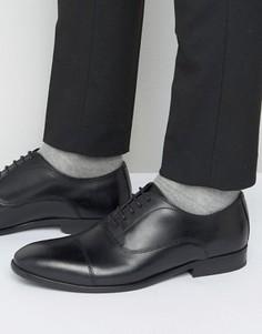 Кожаные оксфордские туфли Base London Richards - Черный