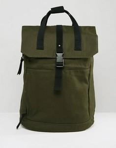 Зеленый рюкзак с черной отделкой и отделением для ноутбука ASOS - Зеленый