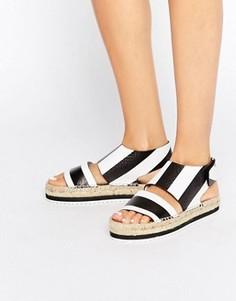 Кожаные сандалии-эспадрильи Miista Paola - Черный