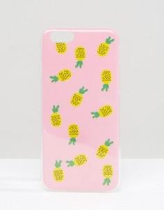 Чехол для Iphone 6 с принтом ананаса Signature - Розовый