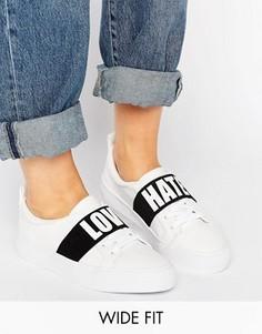 Кроссовки для широкой стопы с надписью ASOS DIVINE - Белый