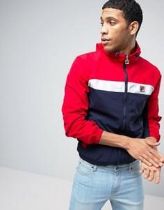 Куртка с капюшоном и вставками Fila Vintage - Красный