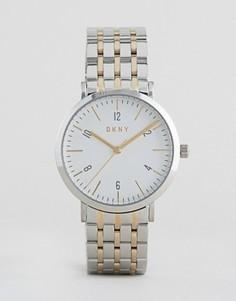 Серебристые часы DKNY Minetta - Серебряный