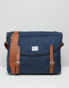 Синяя сумка через плечо Sandqvist Erik Cordura - Синий