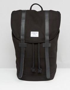 Черный рюкзак Sandqvist Stig - Черный