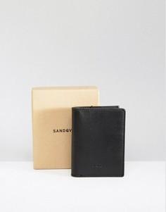Черный кожаный бумажник Sandqvist Dow - Черный