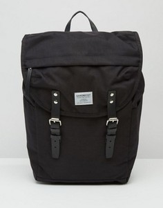 Черный рюкзак Sandqvist Hans Cordura - Черный