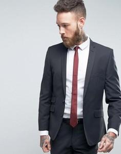Темно-серый узкий пиджак Ben Sherman - Темно-синий