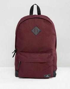 Бордовый рюкзак из парусины с основанием из искусственной кожи ASOS - Красный