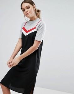 Платье-комбинация с футболкой Influence - Черный