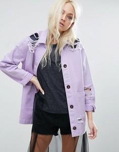 Куртка с прорехами ASOS - Фиолетовый