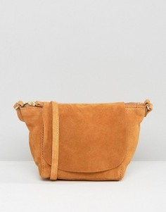 Замшевая сумка через плечо ASOS - Рыжий