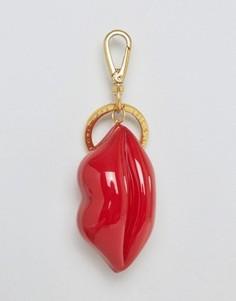 Брелок с подвеской в виде губ из пластика Lulu Guinness - Красный