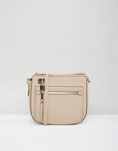 Лаконичная сумка-седло ALDO - Бежевый