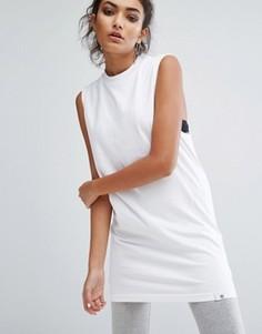 Белая длинная майка adidas XByO - Белый